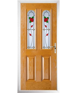 The Aberdeen Composite Door in Oak with English Rose