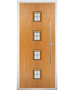 The Leicester Composite Door in Oak with Finesse Glazing