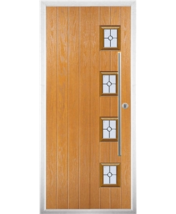 The Norwich Composite Door in Oak with Finesse Glazing