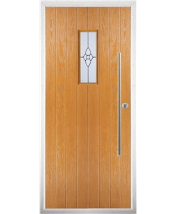 The Zetland Composite Door in Oak with Finesse Glazing