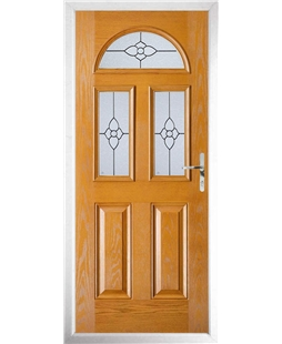 The Glasgow Composite Door in Oak with Finesse Glazing