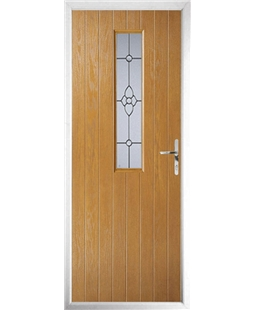 The Sheffield Composite Door in Oak with Finesse Glazing