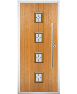The Leicester Composite Door in Oak with Flair Glazing