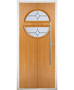The Xenia Composite Door in Oak with Flair Glazing