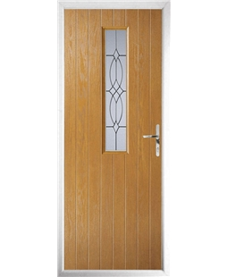 The Sheffield Composite Door in Oak with Flair Glazing