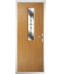 The Sheffield Composite Door in Oak with Fleur