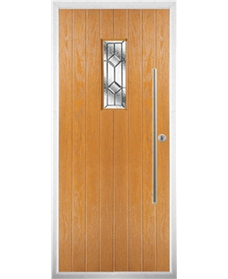The Zetland Composite Door in Oak with Simplicity