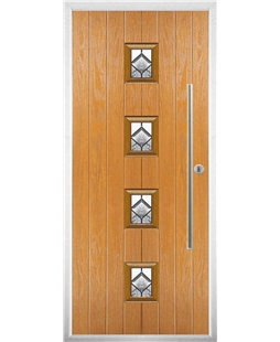 The Leicester Composite Door in Oak with Simplicity