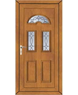 Brighton Titan Bevel uPVC Door In Oak