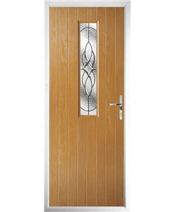 The Sheffield Composite Door in Oak with Zinc Art Elegance