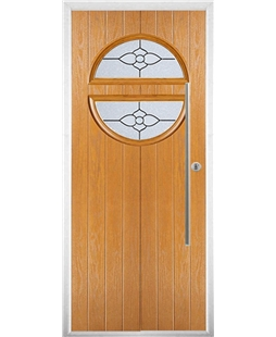 The Xenia Composite Door in Oak with Finesse Glazing