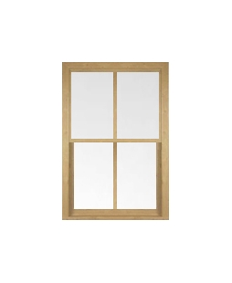 West Midlands uPVC Sliding Sash Window in Irish Oak