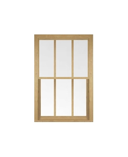 Greater Manchester uPVC Sliding Sash Window in Irish Oak