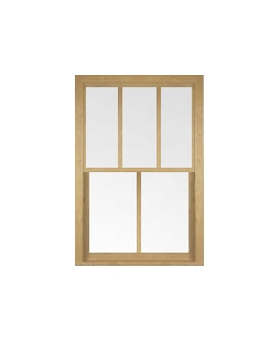 West Yorkshire uPVC Sliding Sash Window in Irish Oak