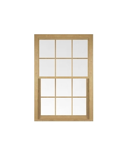Lancashire uPVC Sliding Sash Window in Irish Oak