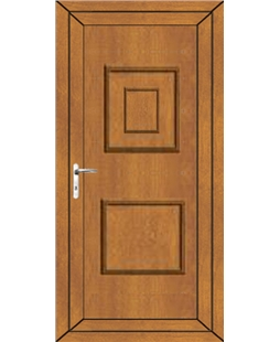 Luton Solid uPVC Door In Oak