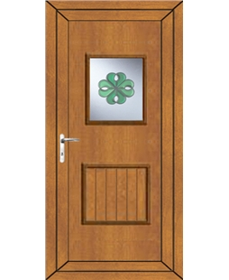 Luton Irish Bevel uPVC Door In Oak