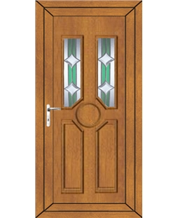 Queenborough Bevel uPVC Door In Oak