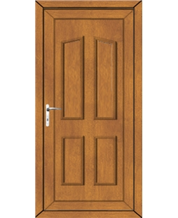 Doncaster Solid uPVC High Security Door In Oak