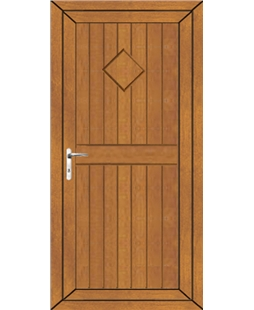 Torquay Diamond Solid uPVC Door In Oak