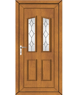 Doncaster Queen Anne uPVC High Security Door In Oak
