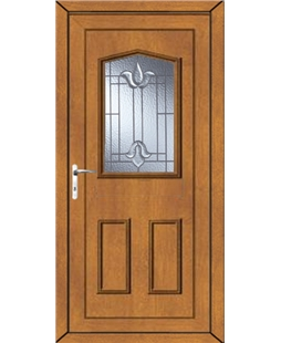 Oswestry Coventry Bevel uPVC Door In Oak