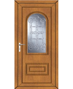 Epsom Coyle uPVC High Security Door In Oak