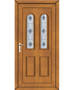 Northampton Crystal uPVC Door In Oak