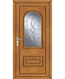 Epsom Cullingworth Bevel Border uPVC High Security Door In Oak