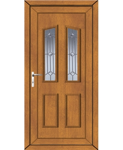 Doncaster Georgian Bevel uPVC Door In Oak