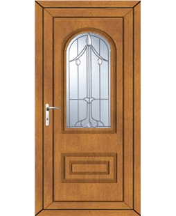 Epsom Harding Bevel uPVC Door In Oak