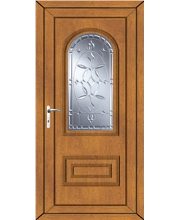 Epsom New Diamond uPVC High Security Door In Oak