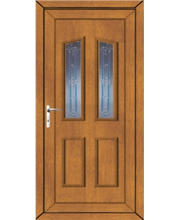 Doncaster Tanzanite uPVC High Security Door In Oak