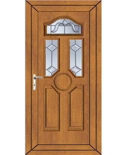 Ventor Victorian Bevel uPVC Door In Oak