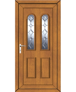 Northampton Bingley Bevel uPVC Door In Oak
