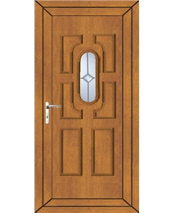 Cheltenham Centre Gem uPVC High Security Door In Oak