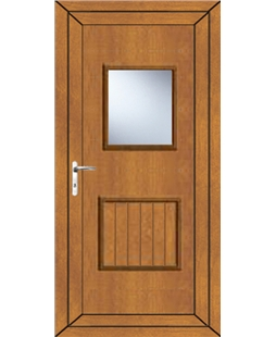 Luton Large Glazed uPVC Door In Oak