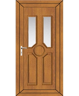 Queenborough Glazed uPVC Door In Oak