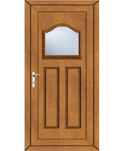 Bradford Clear Glazed uPVC High Security Door In Oak