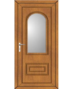 Epsom Clear Glazed uPVC High Security Door In Oak