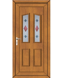 Upvc door in golden oak upvc front back doors value for Coloured upvc doors