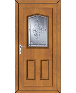 Oswestry Connah uPVC High Security Door In Oak