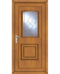 Fareham Crystal Gem uPVC Door In Oak