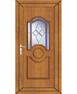 Johnstone Crystal Gem uPVC Door In Oak