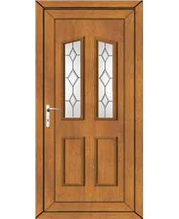 Doncaster Queen Anne Bevel uPVC Door In Oak