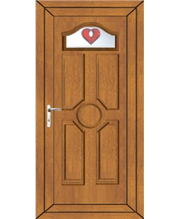 Ventor Red Jewel uPVC Door In Oak