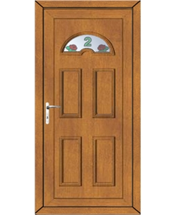 Brighton Rose Bud House No uPVC High Security Door In Oak