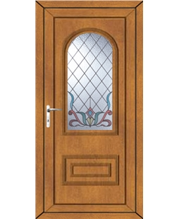 Epsom Scroll uPVC Door In Oak