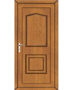 Portsmouth Solid uPVC Door In Oak