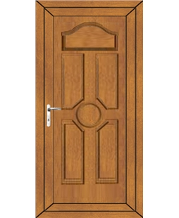 Ventor Solid uPVC Door In Oak